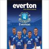 EVERTON 2012 OFFICIAL CALENDAR. /стенен календар