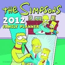 THE SIMPSONS 2013 FAMILY PLANNER. /стенен календ