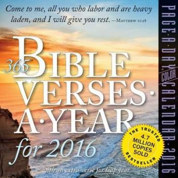 365 BIBLE VERSES-A-YEAR PAGE-A-DAY COLOR CALENDAR 2016