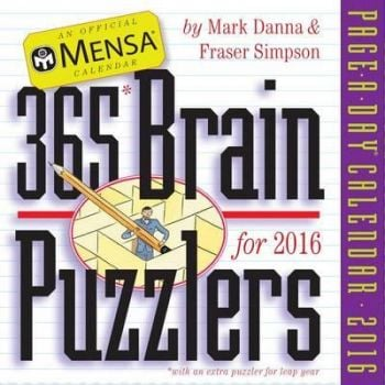 365 BRAIN PUZZLERS PAGE-A-DAY CALENDAR 2016