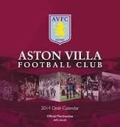 OFFICIAL ASTON VILLA DESK EASEL 2014 CALENDAR