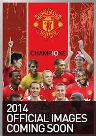 MANCHESTER UNITED OFFICIAL CALENDAR 2014. /стене
