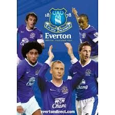 EVERTON FC 2013 OFFICIAL CALENDAR.  /стенен кале