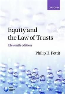 EQUITY AND THE LAW OF TRUSTS: 11th Edition