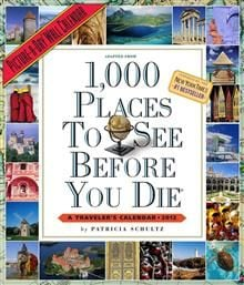 1,000 PLACES TO SEE BEFORE YOU DIE 2012. /стенен
