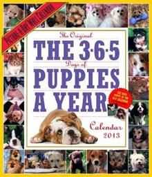 365 DAYS OF PUPPIES-A-YEAR CALENDAR 2013. /стене
