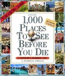 1000 PLACES TO SEE BEFORE YOU DIE 2014. /стенен