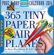 365 TINY PAPER AIRPLANES 2014. (Calendar/Page A