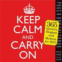 KEEP CALM AND CARRY ON PAGE-A-DAY CALENDAR 2015