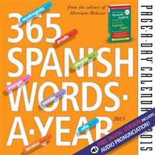 365 SPANISH WORDS-A-YEAR PAGE-A-DAY CALENDAR 201