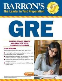 BARRON`S GRE, 22nd Edition