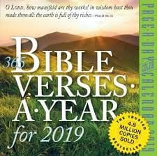 365 BIBLE VERSES A YEAR PAGE-A-DAY CALENDAR 2019