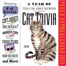 A YEAR OF CAT TRIVIA PAGE-A-DAY CALENDAR 2019