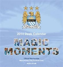 OFFICIAL MANCHESTER CITY DESK EASEL 2014 CALENDA
