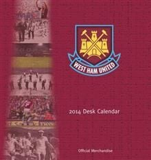 OFFICIAL WEST HAM DESK EASEL 2014 CALENDAR