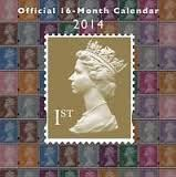 ROYAL MAIL OFFICIAL 2014 CALENDAR. /стенен кален
