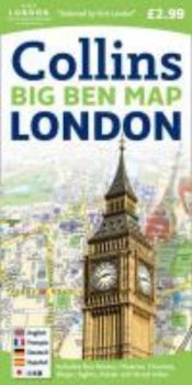 COLLINS LONDON BIG BEN MAP.