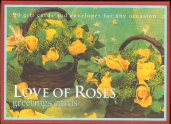 LOVE OF ROSES: 20 gift cards and envelopes for a