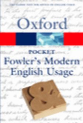 OXFORD POCKET FOWLER`S MODERN ENGLISH USAGE. /PB
