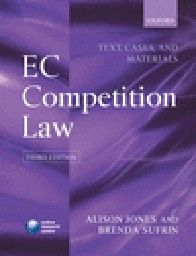 EC COMPETITION LAW: Text, cases, and materials.