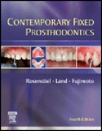 "CONTEMPORARY FIXED PROSTHODONTICS. 4th ed. ""ELSE"