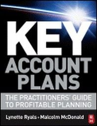 KEY ACCOUNT PLANS. (L.Ryals, M.McDonald), PB