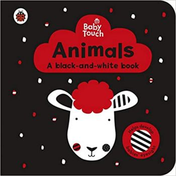 """ANIMALS: A Black-and-White Book. """"Baby Touch"""""""