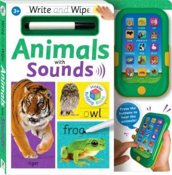 """ANIMALS WITH SOUNDS. """"Write and Wipe"""""""