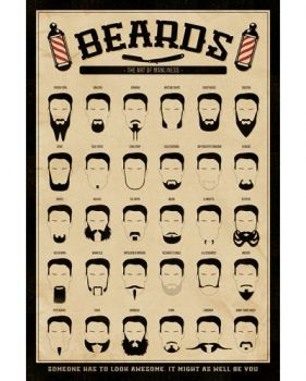 BEARDS (THE ART OF MANLINESS) MAXI POSTER
