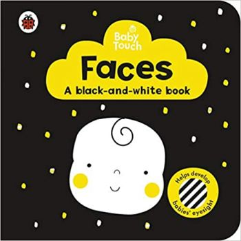 """FACES: A Black-and-White Book. """"Baby Touch"""""""