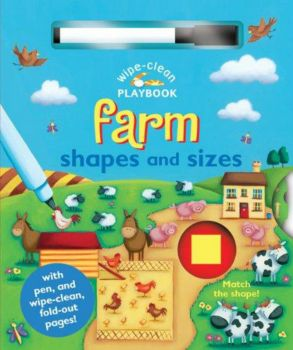 """FARM SHAPES AND SIZES. """"Wipe-Clean Playbook"""""""