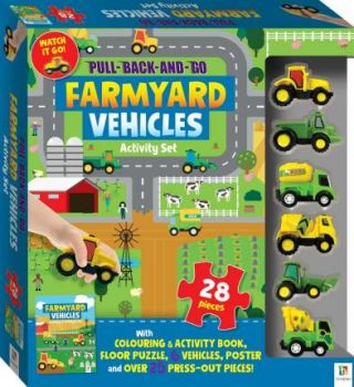 "FARMYARD VEHICLES ACTIVITY SET. ""Pull-Back-and-Go"""