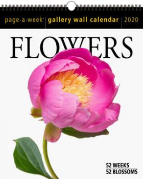 FLOWERS PAGE-A-WEEK GALLERY CALENDAR 2020. /стенен календар/