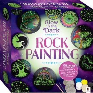 "ROCK PAINTING. ""Glow in the Dark"""