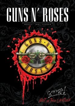 GUNS N` ROSES OFFICIAL 2018 CALENDAR A3. /стенен календар/