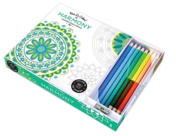 """HARMONY. """"Vive le Color!"""": Coloring Book and Pencils"""