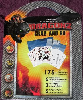"""HOW TO TRAIN YOUR DRAGON 2: 175 Stickers. """"Grab and Go"""""""