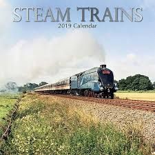 STEAM TRAINS 2019. /стенен календар/