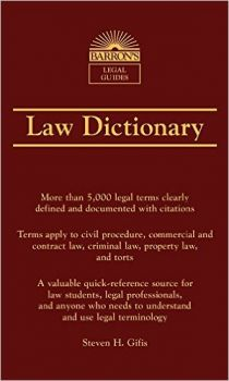 LAW DICTIONARY, 7th Edition