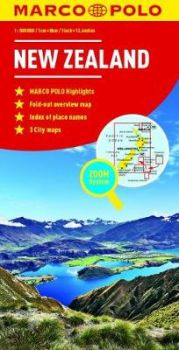 """NEW ZEALAND. """"Marco Polo Map"""""""