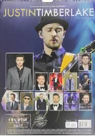 OFFICIAL JUSTIN TIMBERLAKE CALENDAR 2015. /стене