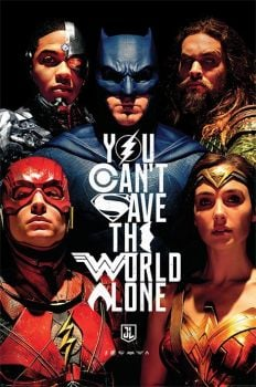 JUSTICE LEAGUE MOVIE SAVE THE WORLD MAXI POSTER
