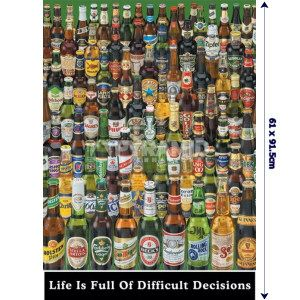 LIFE IS FULL OF HARD DECISIONS MAXI POSTER