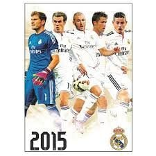 OFFICIAL REAL MADRID A3 CALENDAR 2015 . /стенен