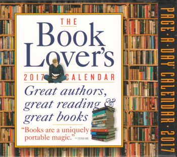 THE BOOK LOVER`S PAGE-A-DAY CALENDAR 2017
