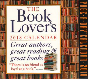 THE BOOK LOVER`S PAGE-A-DAY CALENDAR 2018