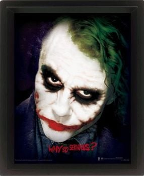 The Dark Knight (Why So Serious?) 3D Lenticular Poster /EPPL71158/
