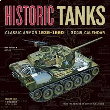 HISTORIC TANKS CALENDAR 2019. /стенен календар/