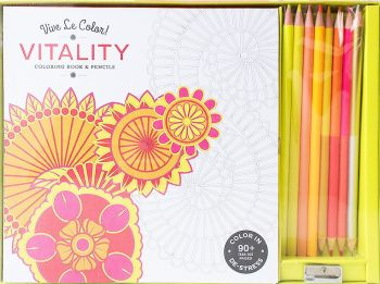 """VITALITY. """"Vive le Color!"""": Coloring Book and Pencils"""