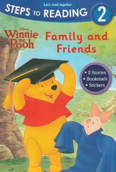"""WINNIE THE POOH: Family And Friends. """"Steps to Reading"""" 2"""